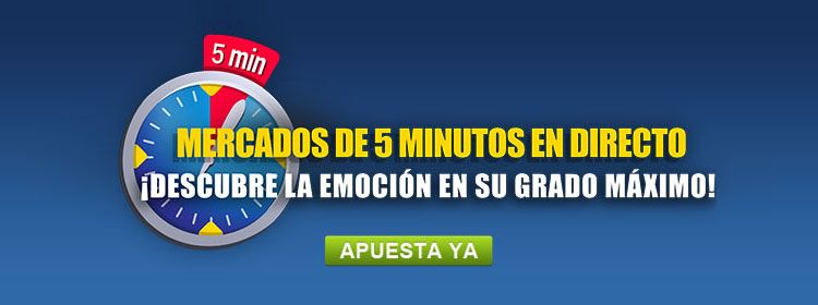 Apuesta en los Mercados de 5 minutos con William Hill
