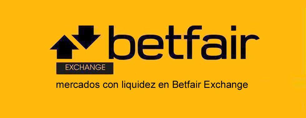 Mercados con liquidez en Betfair Exchange
