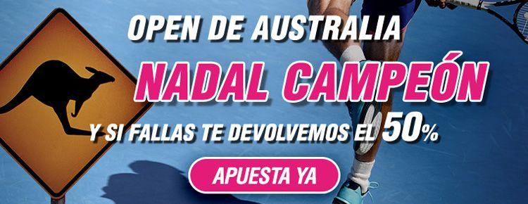Apuesta por Nadal campeón del Open de Australia