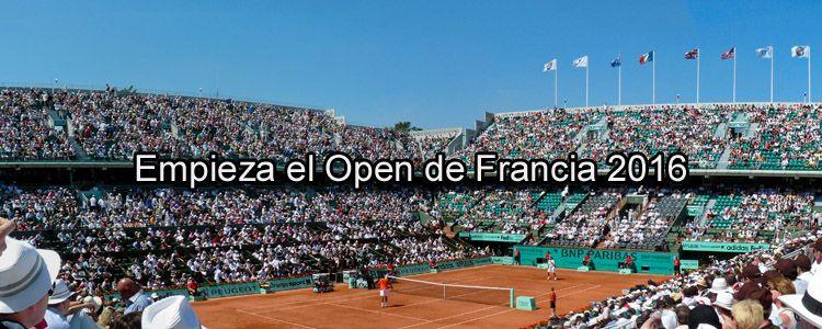 Empieza el Open de Francia 2016