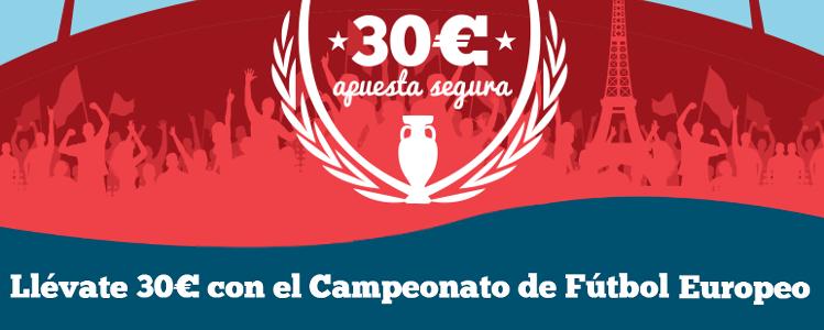 Llévate 30€ con el Campeonato de Fútbol Europeo