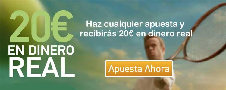 Haz cualquier apuesta con PAF y recibirás 20€ en dinero real
