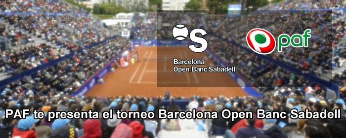 PAF te presenta el torneo Barcelona Open Banc Sabadell