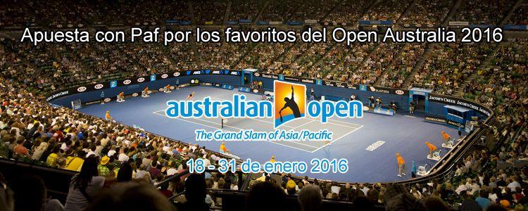 Apuesta con Paf por los favoritos del Open Australia 2016