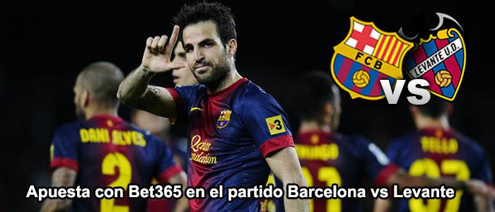 Apuesta con Bet365 en el partido Barcelona vs Levante