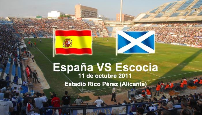 Apuestas España - Escocia, Clasificación Eurocopa 2012