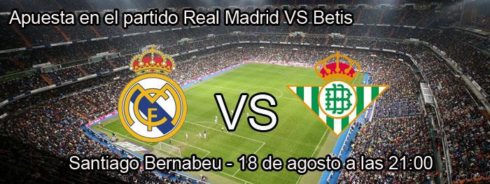 Apuesta en el partido Real Madrid VS Betis