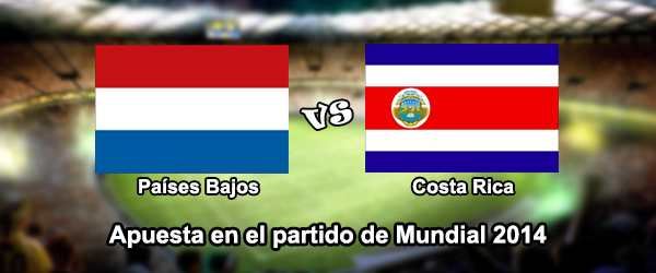 Apuestas Mundial 2014: Países Bajos - Costa Rica