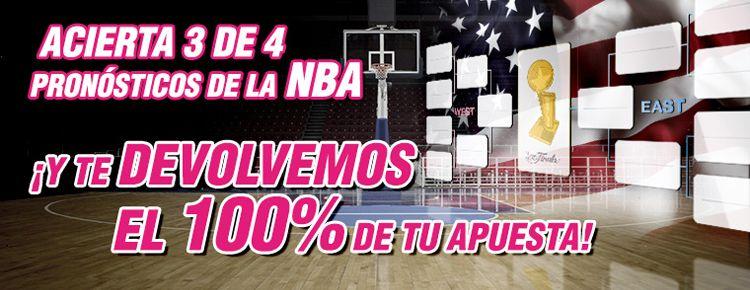 Nueva promocion de apuestas para los partidos de la NBA