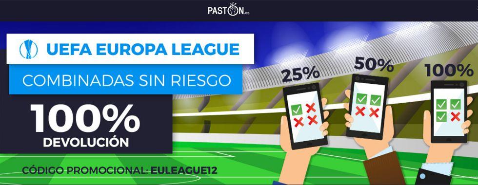 Haz tus apuestas combinadas sin riesgo en Europa League