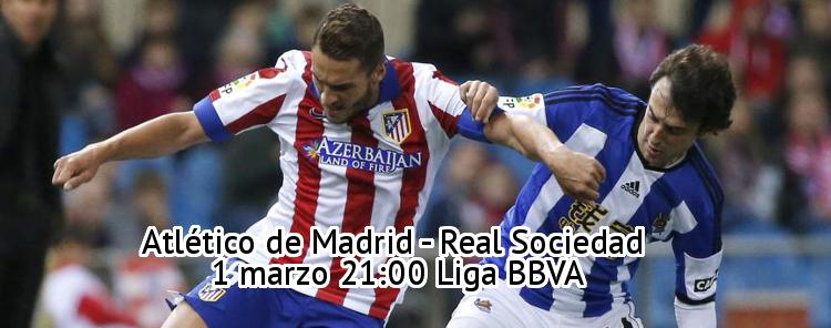 El Atlético se enfrenta al Real Sociedad en la liga BBVA