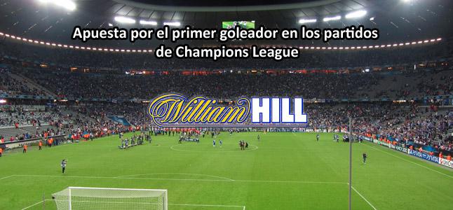 Apuesta por el primer goleador en los partidos de Champions League