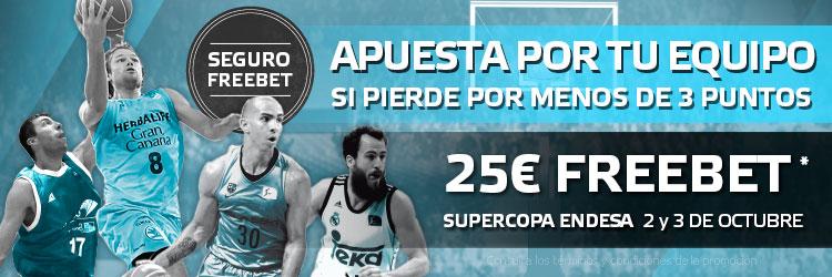 Apuesta con Suertia en los partidos de la Supercopa de basket
