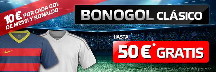 Recibe 10€ por cada gol de Messi y Ronaldo