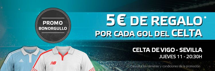 5 euros de regalo por cada gol de Celta ante el Sevilla