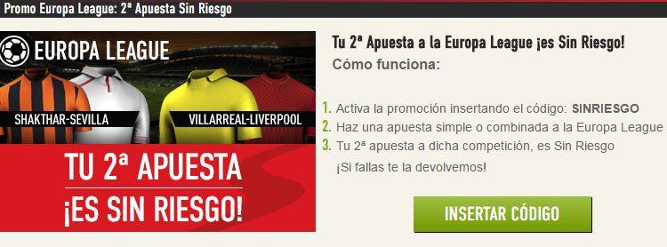 Haz tu apuesta en los partidos de Europa League sin riesgo