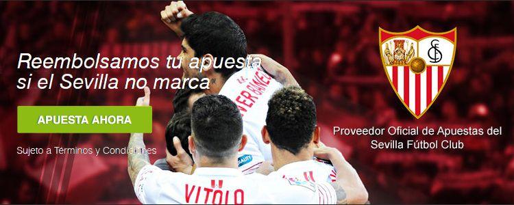 Titanbet te reembolsa tu apuesta si el Sevilla no marca