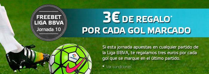 3 euros Gratis por cada gol que se marque en el Real Betis - Athletic Bilbao