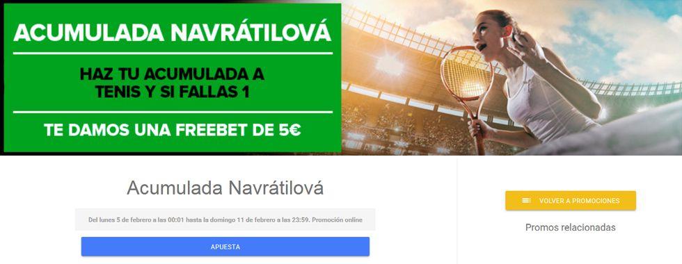 Nueva promoción Codere para los partidos de tenis
