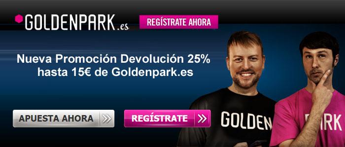 Goldenpark.es presenta la nueva Promoción Devolución de hasta 15 euros