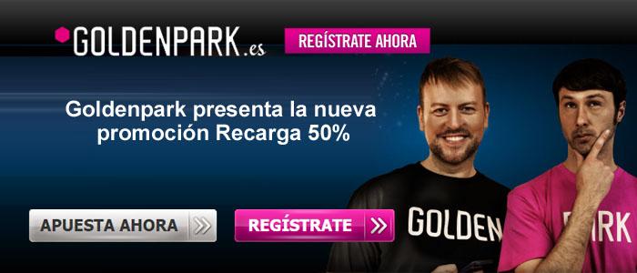 Goldenpark presenta la nueva promoción Recarga 50%