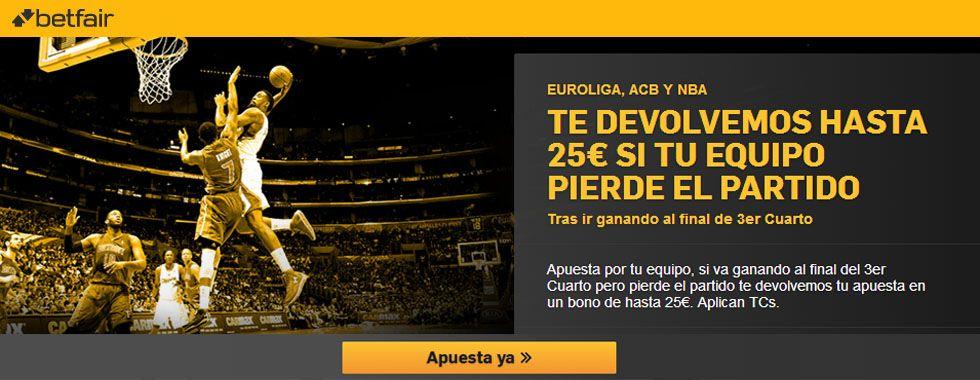 Si tu equipo pierde el partido, Betfair te devuelve hasta 25€