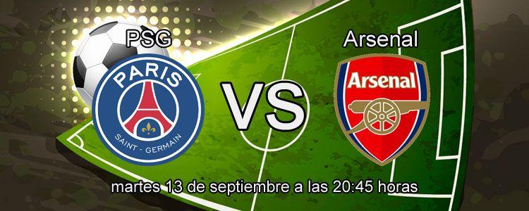 Consejos para apostar en el partido PSG - Arsenal