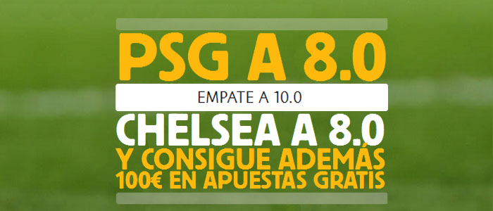 Súper Cuota Betfair - PSG le Gana al Chelsea a Cuota 8.0