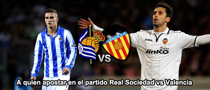A quien apostar en el partido Real Sociedad vs Valencia