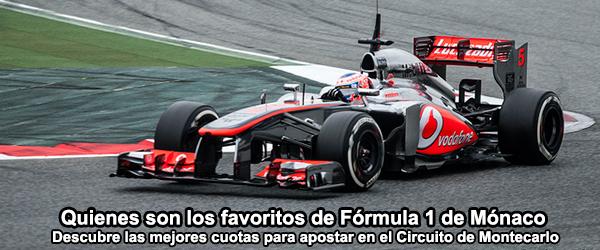 Quienes son los favoritos de Fórmula 1 de Mónaco