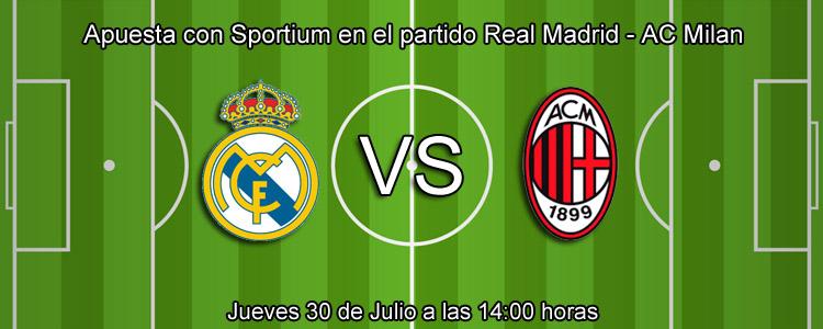 Apuesta con Sportium en el partido Real Madrid - AC Milan