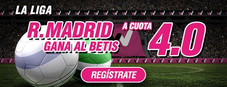 Supercuota por la victoria de Real Madrid ante el Betis
