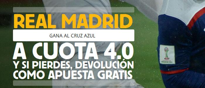 Supercuota Betfair por la victoria de Real Madrid contra Cruz Azul