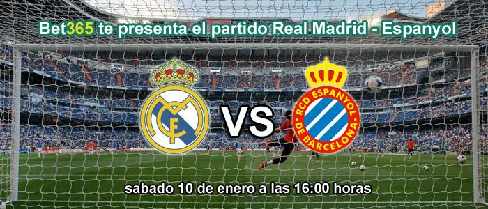 Bet365 te presenta el partido Real Madrid - Espanyol