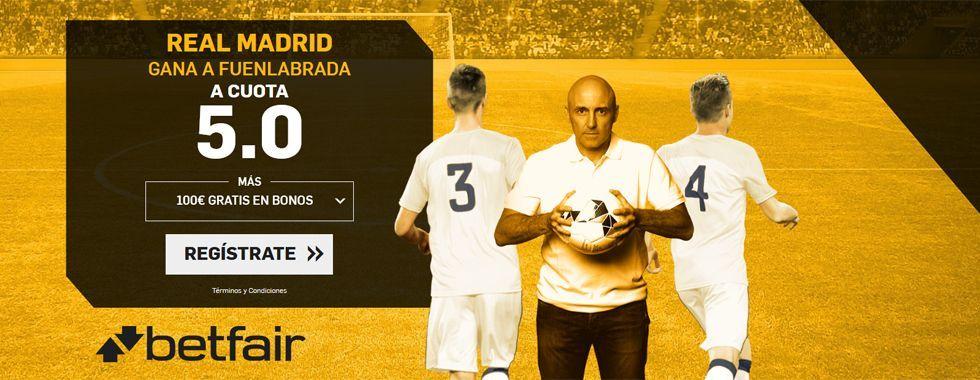 Supercuota para el partido Real Madrid - Fuenlabrada