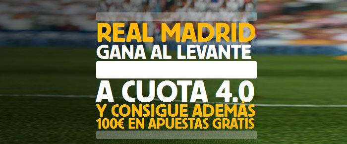 Supercuota por la victoria de Real Madrid contra Levante