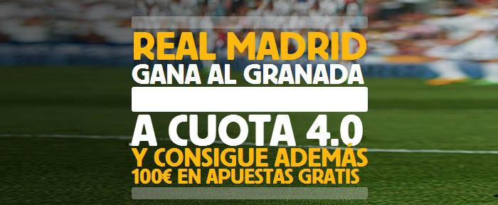 Super cuota de 4.0 por la victoria de Real Madrid ante Granada