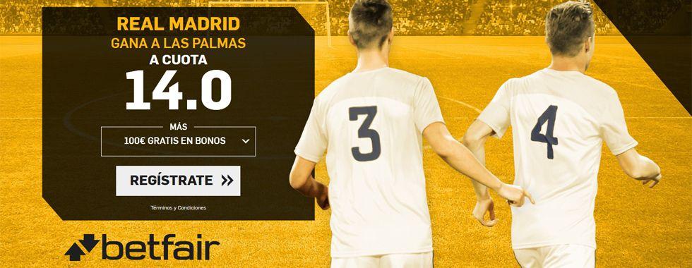 Supercuota por la victoria del Real Madrid ante Las Palmas