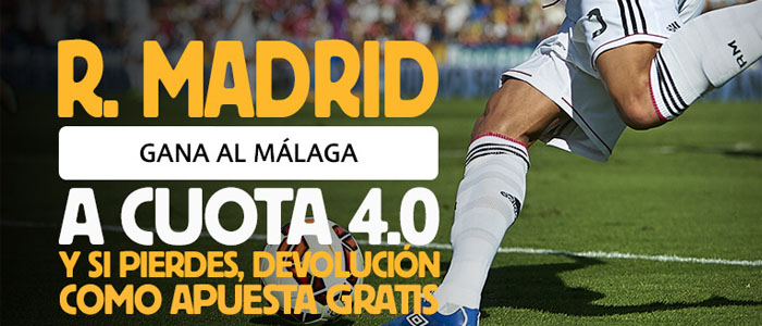 Super Cuota en el partido Málaga - Real Madrid