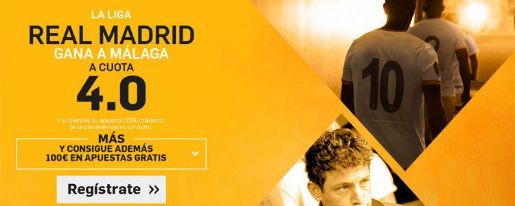 Supercuota por la victoria de Rel Madrid ante el Malaga
