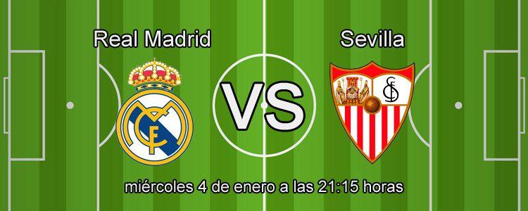 Haz tus apuestas en el partido Real Madrid - Sevilla