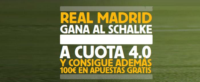 Supercuota de 4.0 por la victoria de Real Madrid contra Schalke