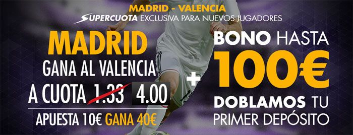 Real Madrid favorito ante el Valencia en el partido de la liga BBVA