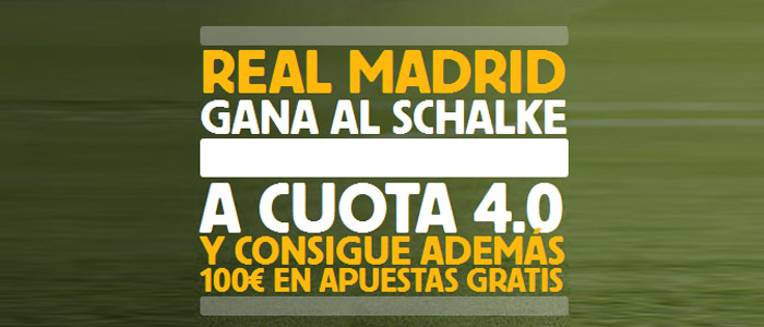 Supercuota Betfair de 4.0 por la victoria de Real Madrid contra Schalke