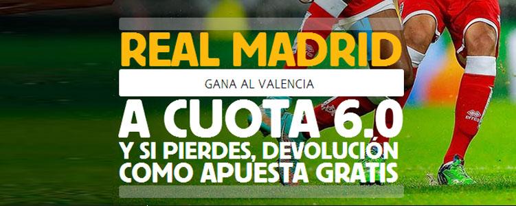 Supercuota de 6.0 por la victoria de Real Madrid contra Valencia