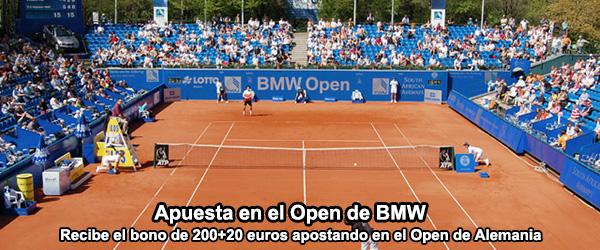 Recibe el bono de 200+20 euros apostando en el Open de BMW