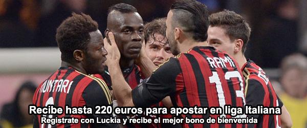 Recibe hasta 200+20 euros para apostar en liga Italiana