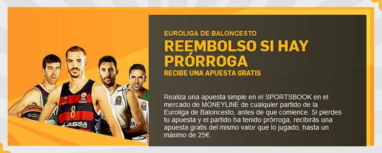 Apuesta con Betfair en la Euroliga de Baloncesto