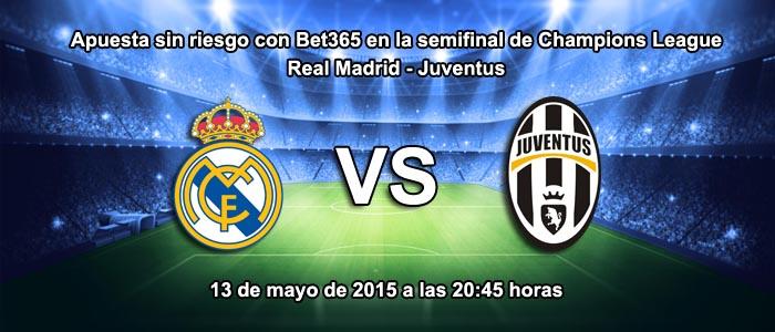 Real Madrid favorito ante el Juventus en la semifinal de Champions League