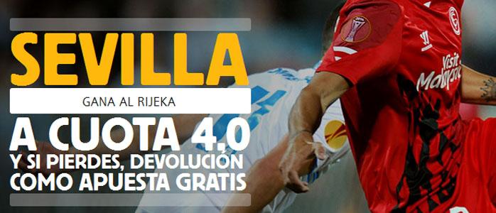 Apuesta con Betfair por la victoria de Sevilla contra Rijeka